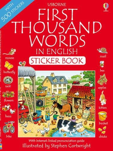 9781409508663: First 1000 Words in English Sticker Book