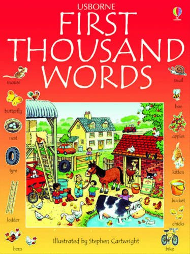 9781409514282: First Thousand Words in English (Usborne First Thousand Words)