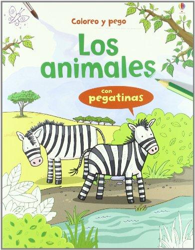 9781409515784: Animales (con pegatinas) (Coloreo Y Pego (usborne))