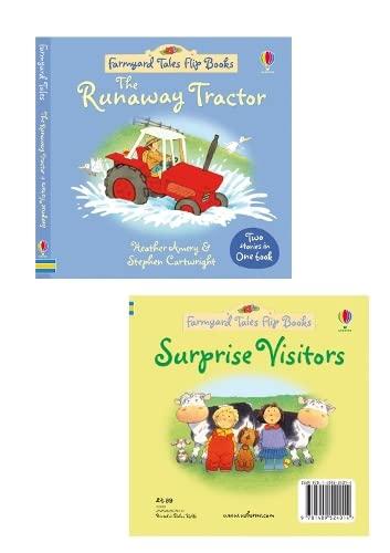 9781409524014: The Runaway Tractor/Surprise Visitors (Farmyard Tales Flip Books)