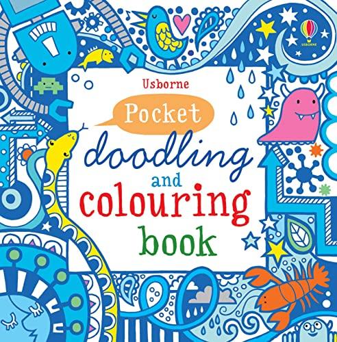 9781409524120: Pocket Doodling and Colouring Book: Blue Book (Usborne Art Ideas)