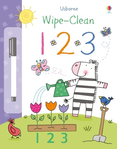 9781409524496: 123 (Usborne Wipe Clean Books)