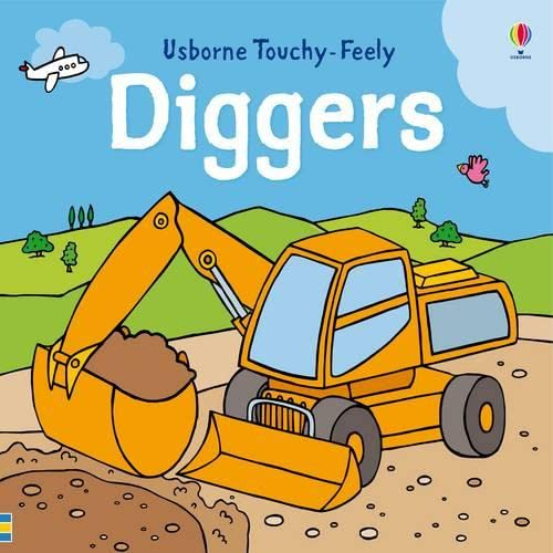 9781409525257: Touchy-feely Diggers (Usborne Touchy Feely Books)