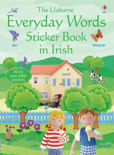 Everyday Words in Irish Sticker Book (Usborne Everyday Words): Felicity Brooks