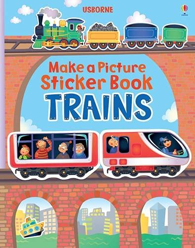 9781409535065: Make a Picture Sticker Book: Trains (Make a Picture Sticker Books)