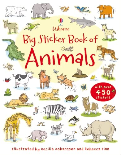 9781409535126: Big Sticker Book of Animals (Usborne First Sticker Books)