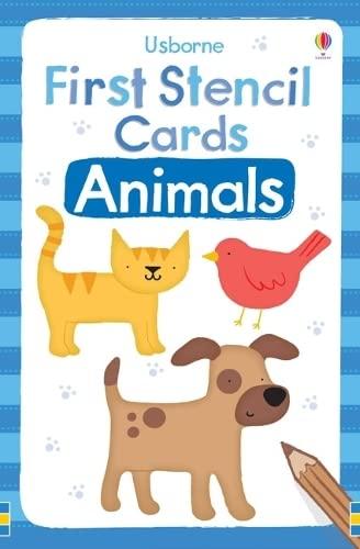 9781409536468: Animals (Usborne First Stencil Cards)