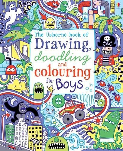 9781409539667: Drawing, Doodling and Colouring: Boys (Usborne Drawing, Doodling and Colouring)