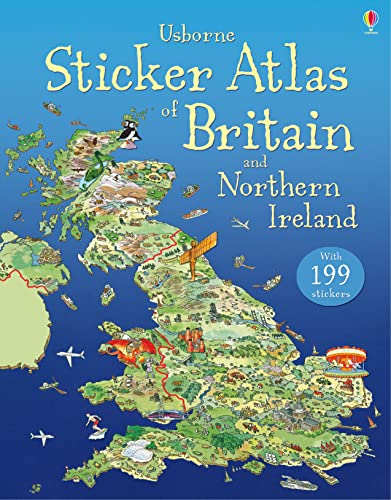 Usborne Sticker Atlas of Britain and Northern: Stephanie Turnbull, Fiona