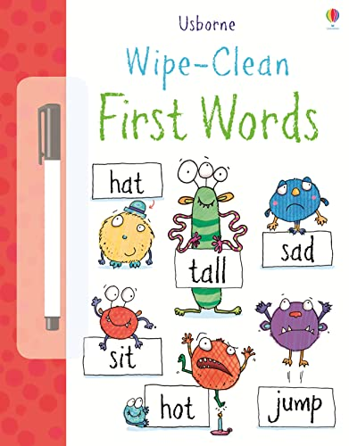 9781409551508: Wipe Clean First Words (Usborne Wipe Clean Books)
