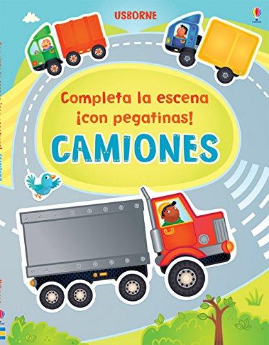 9781409553885: Camiones. Completa La Escena Con Pegatinas