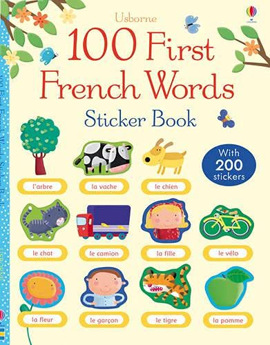 9781409557272: 100 First French Words Sticker Book