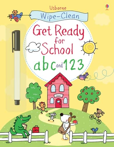 9781409563297: Get ready for school abc and 123 (Wipe-clean Books)