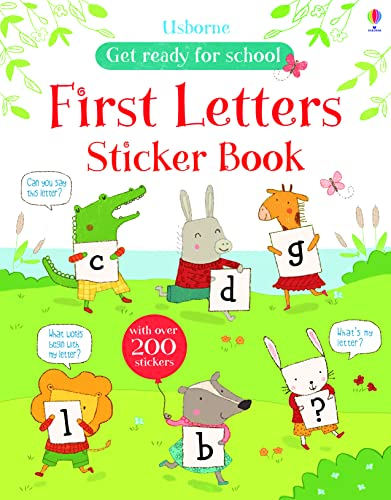9781409564669: First Letters Sticker Book (Get Ready for School Sticker Books)