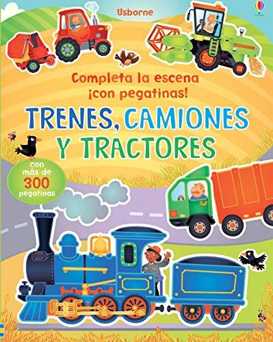 9781409572725: Trenes, camiones y tractores (con pegatinas)