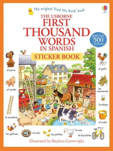 9781409580232: First Thousand Words in Spanish Sticker Book
