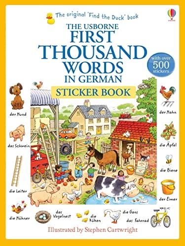 9781409580249: First Thousand Words in German Sticker Book