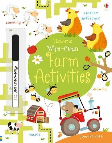 Wipe-Clean Farm Activities (Usborne Wipe-Clean Books): unlisted