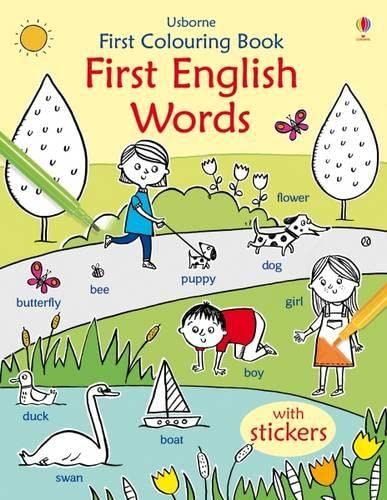9781409595137: First Colouring Book First English Words (First Colouring Books)
