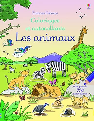 9781409595472: Les animaux - Coloriages et autocollants
