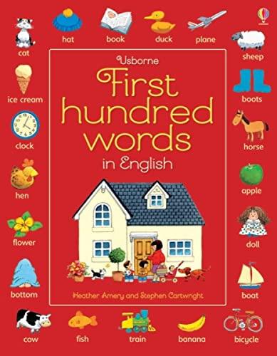 9781409596905: First 100 words in english. Ediz. illustrata (Le prime cento parole)