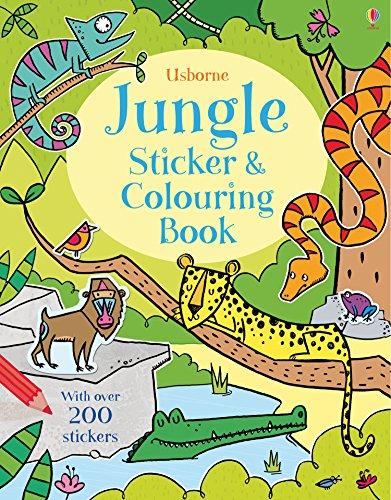 Jungle Sticker and Colouring Book: Alice Primmer