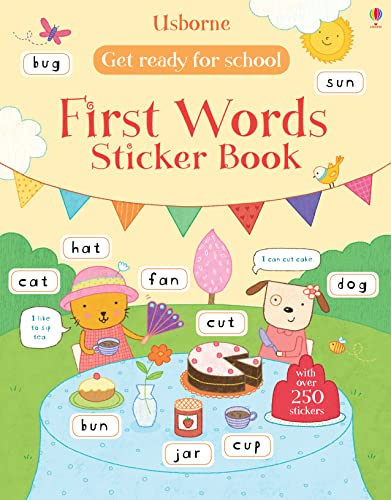 9781409597544: Get Ready for School First Words Sticker Book (Get Ready for School Sticker Books)