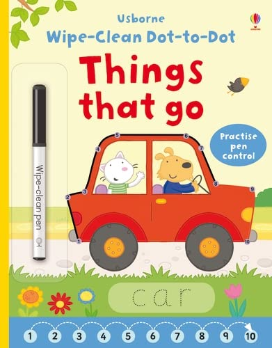 9781409597803: Wipe-clean Dot-to-dot Things that Go (Wipe-clean Books)