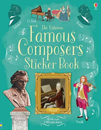 9781409598794: Famous Composers Sticker Book (Information Sticker Books)
