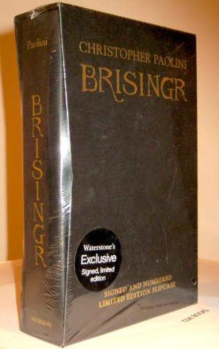BRISINGR - BOOK THREE OF THE INHERITANCE CYCLE - WATERSTONES LIMITED, SLIPCASED, SIGNED & NUMBERE...