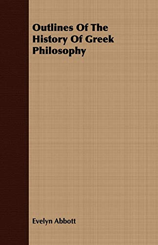 9781409770008: Outlines Of The History Of Greek Philosophy
