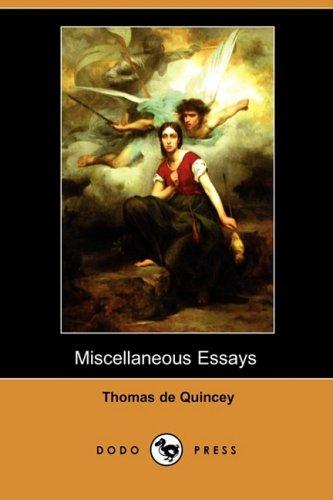 9781409925637: Miscellaneous Essays (Dodo Press)