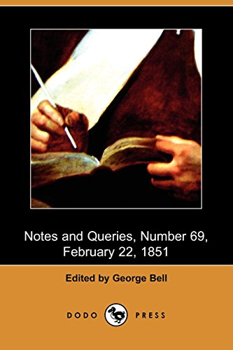 9781409943181: Notes and Queries, Number 69, February 22, 1851 (Dodo Press)