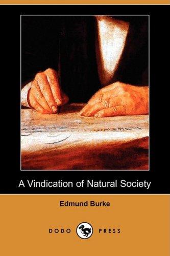 9781409952114: A Vindication of Natural Society (Dodo Press)