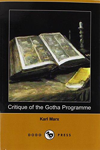 9781409961697: Critique of the Gotha Programme (Dodo Press)