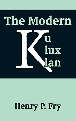 9781410204813: Modern Ku Klux Klan, The