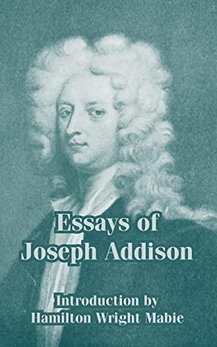 9781410212641: Essays of Joseph Addison