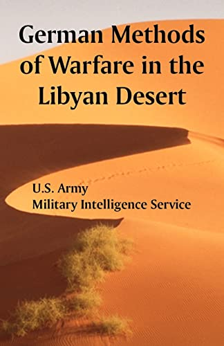 9781410222220: German Methods of Warfare in the Libyan Desert