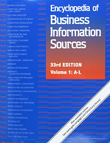 9781410313133: Encyclopedia of Business Information Sources: 2 volume set: A Bibliographic Guide to More Than 35,000 Citations Covering Over 1,100 Subjects of Interest to Business Personnel