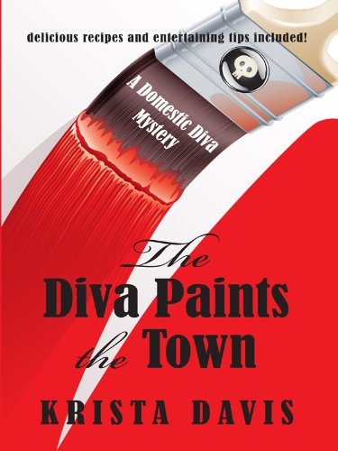 9781410427120: The Diva Paints the Town (Wheeler Publishing Large Print Cozy Mystery)