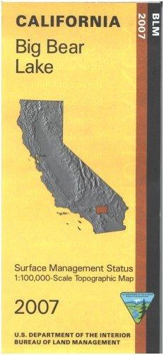 9781411318823: Map: Big Bear Lake - Surface Management