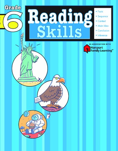 9781411400771: Reading Skills: Grade 6 (Flash Kids Harcourt Family Learning)