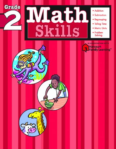 9781411401075: Math Skills: Grade 2 (Flash Kids Harcourt Family Learning)