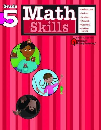 9781411401105: Math Skills: Grade 5 (Flash Kids Harcourt Family Learning)