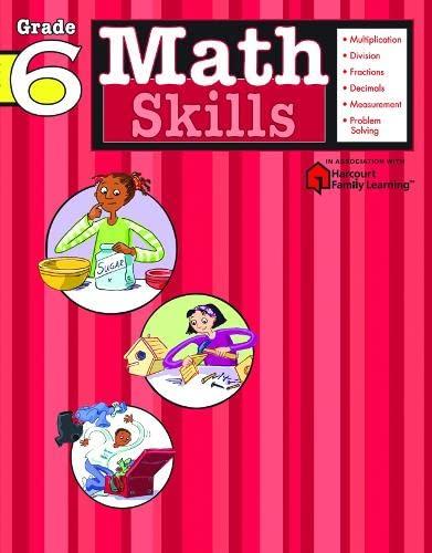 9781411401112: Math Skills: Grade 6 (Flash Kids Harcourt Family Learning)
