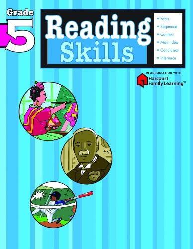 9781411401174: Reading Skills: Grade 5 (Flash Kids Harcourt Family Learning)