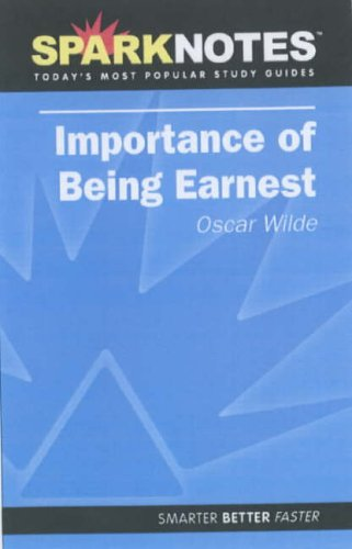 9781411402508: Importance of Being Earnest (Spark Notes Literature Guide)