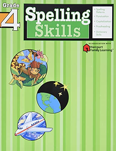 9781411403857: Spelling Skills: Grade 4 (Flash Kids Harcourt Family Learning)