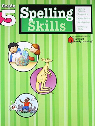 9781411403864: Spelling Skills: Grade 5 (Flash Kids Harcourt Family Learning)