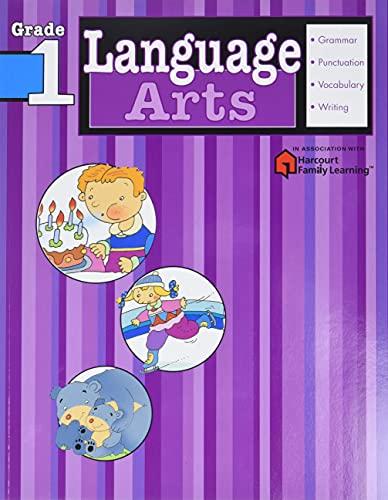 9781411404090: Language Arts: Grade 1 (Flash Kids Harcourt Family Learning)
